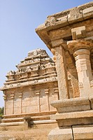 Low angle view of a temple, Hampi, Karnataka, India