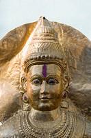 Close_up of a statue, Hampi, Karnataka, India