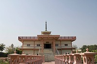 Low angle view of a temple, Daijokyo Buddhist Temple, Bodhgaya, Gaya, Bihar, India