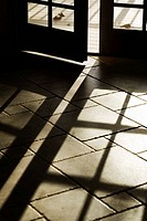 Sunlight Shadows Through French Doors