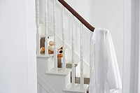 Shirt hanging on banisters