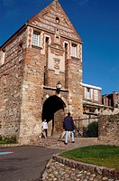 Porte de Nevers gate (14th century), Saint-Valery-sur-Somme, Somme Bay, Somme, Picardy, France