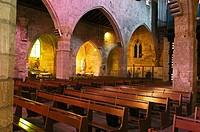 Notre Dame des Sablons Chuch, Aigues-Mortes. Petite Camargue, Gard, Languedoc-Roussillon, France