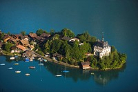 View on Iseltwald, Lake Brienz, Bernese Oberland highlands, Canton of Bern, Switzerland