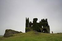 Ballycarbery castle near Cahersiveen, Ring of Kerry, Ireland, Europe