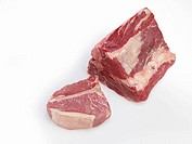 Piece of meat for cutting into Porterhouse steaks