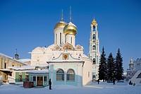Russia - Golden Ring - Sergiev-Posad. Trinity Sergius Lavra (Troitse-Sergiyeva Lavra, founded 14th century, UNESCO World Heritage List, 1993). Trinity...
