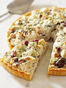 Rustic Turkey Tart, Sliced