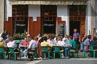 Belgium - Flanders - Antwerp. Grote Markt. Cafés