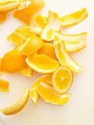 Orange peel for the compost