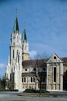 Facade of a church, Klosterneuburg, Austria