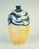 Ceramics - Italy - 20th century. Salamander vase. Polychrome lusterware. Galileo Chini, Arte della Ceramica, Florence, 1898-1902
