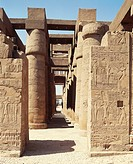 Egypt - Ancient Thebes (UNESCO World Heritage List, 1979). Luxor. Karnak. Great Temple of Amon. Hypostyle hall