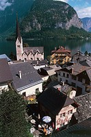 Austria - Upper Austria - Hallstatt (UNESCO's World Heritage Site, 1997). Lake