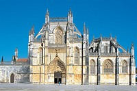 Portugal - Batalha. Monastery of the Dominicans. UNESCO World Heritage List, 1983. Manueline architecture