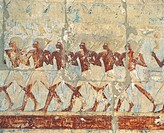 Egypt _ Ancient Thebes UNESCO World Heritage List, 1979. Valley of the Kings. Temple of Hatshepsut at Dayr al_Bahri Deir el_Bahri. Hatshepsut, 1490_14...
