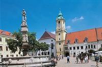 Slovakia - Bratislava. Central Square (Hlavné námestie)