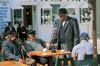 Greece - Southern Aegean - Cyclades Islands - Mykonos - Mykonos Town. Café.