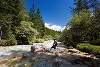 Slovenia, Triglav, national_park, torrent, woman, hiking, landscape