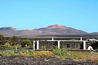 spain, Canary islands, Lanzarote, La Geria, landscape, house, Atlantic_island, destination, mountains, lava_mountains, lava, Montanas Del Fuego, Parqu...