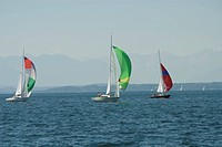 Germany, Bavaria, Starnberger_Lake, sailboats, boat_class dragons, series, Upper Bavaria, lake, waters, water, sail_yachts, ships, boats, dragons, reg...