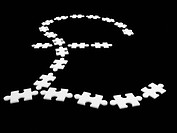 Puzzle pieces in shape or pound symbol