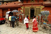 Kathmandu temple scene Nepal