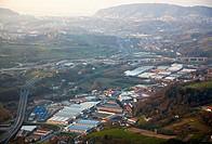 Industrial areas in Ergobia and Astigarraga, near San Sebastián. Donostia, Gipuzkoa, Basque Country, Spain