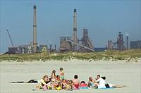 Holland, beach Wijk aan Zee, Velsen Noord
