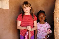 Two Girls at Pueblo Grande Museum & Archaeological Park, Phoenix, Arizona, United States