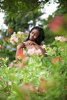 Woman gardening, Pietermaritzburg, KwaZulu_Natal Province, South Africa