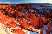 Bryce Canyon, Winter, Sunset Point, Hoodoos, Limes