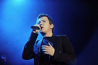 Santiago Chile 28 February 2009 the English singer Rick Astley during a presentation at the Pepsi Fest at Movistar Arena Santiago in Chile