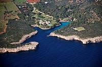 Spain, Balearic Islands, Mallorca, al norte de Cala dÓr, Cala Mitjana
