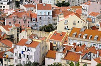 Portugal, Lisbon  Mouraria district view from the Miradouro da Gra&#231;a