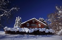 day, blue, cottage, cold, cabin, dwell, architecture