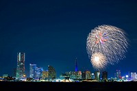 Fireworks and Minato Mirai Building group