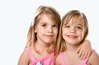 Female children Caucasian twins