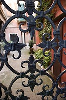 Wrought iron gate in Venice, Italy