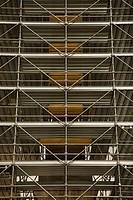Scaffolding around structure in Rome, Italy
