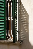 Close_up of window with shutters in Venice, Italy