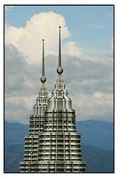 Detail of Petronas Twin Towers in Kuala Lumpur MALAYSIA