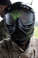 The protective face mask for paintball