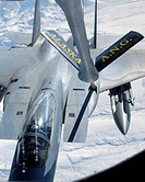 F_15 Eagle refuels behind a KC_135 Stratotanker