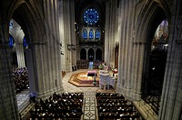 Casket of President Gerald R. Ford lies in place at Washington National Cathedral