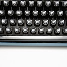 Type levers on typewriter keyboard (thumbnail)