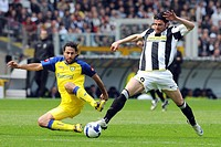 mario yepes and vincenzo iaquinta, torino 2009, serie a football champiosnhip 2008_2009, juventus_chievo