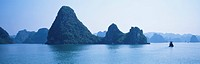 halong bay, panorama, vietnam, indochina, scene, panoramic view