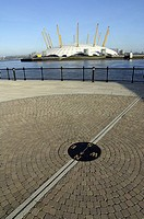 Northpoint on the Greenwich Meridian Line of zero longitude. Isle of Dogs, Docklands, opposite the Millennium Dome. London, United Kingdom