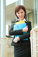 A Business Woman With A File